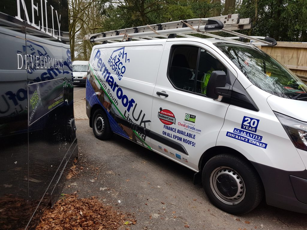 Permaroof Portsmouth Roofer Van Refit To Celebrate Our